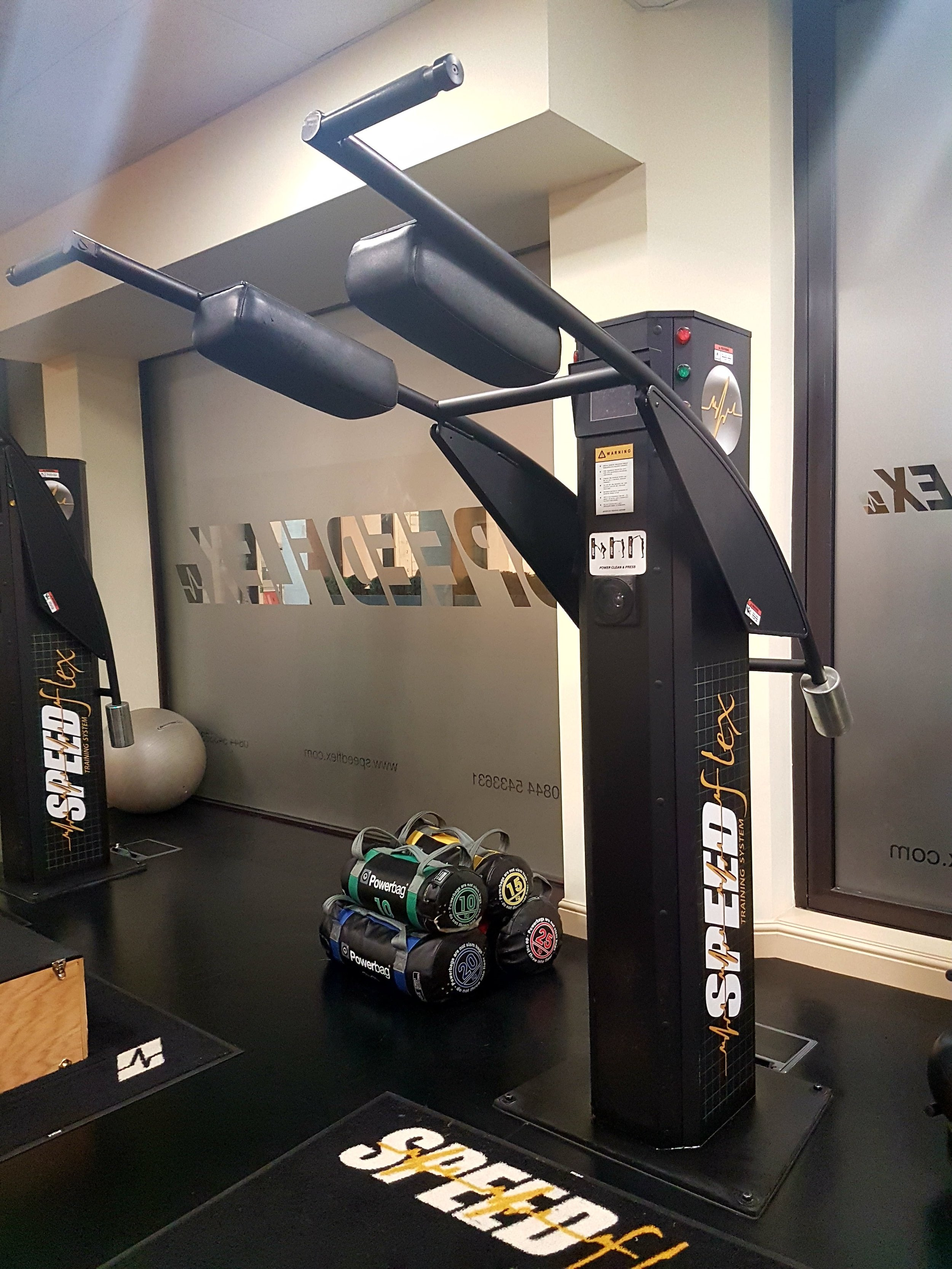 The Speedflex machines assist functional movement and aid in learning correct movement patterns