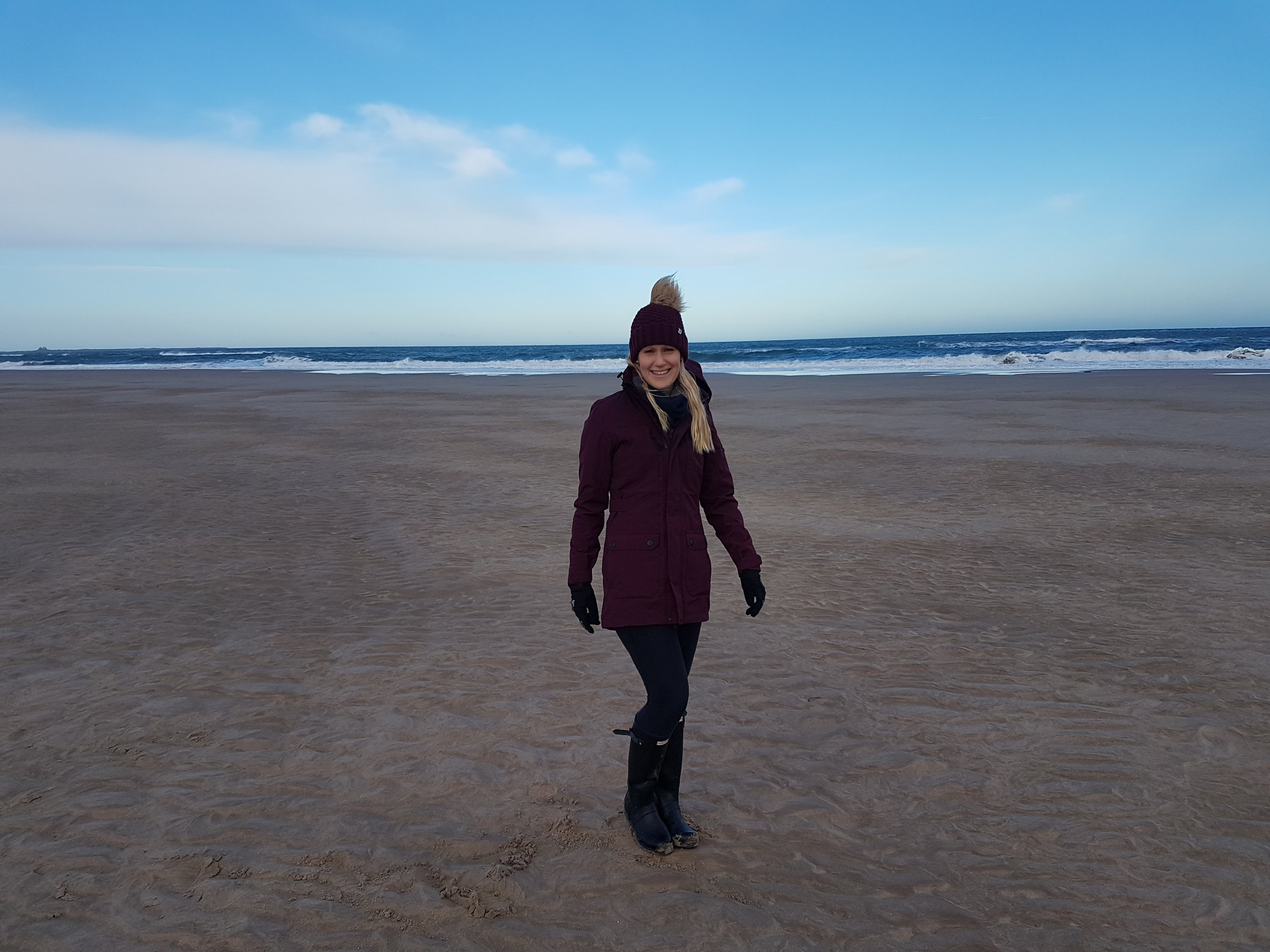 Walking on Bamburgh Beach testing out the Tog 24 Clayton Milatex Jacket