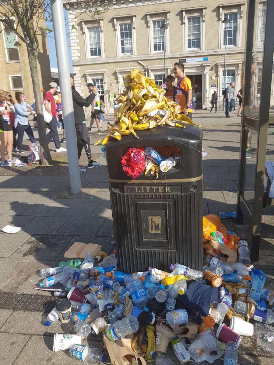 The bin outside Greenwich Park Station!!