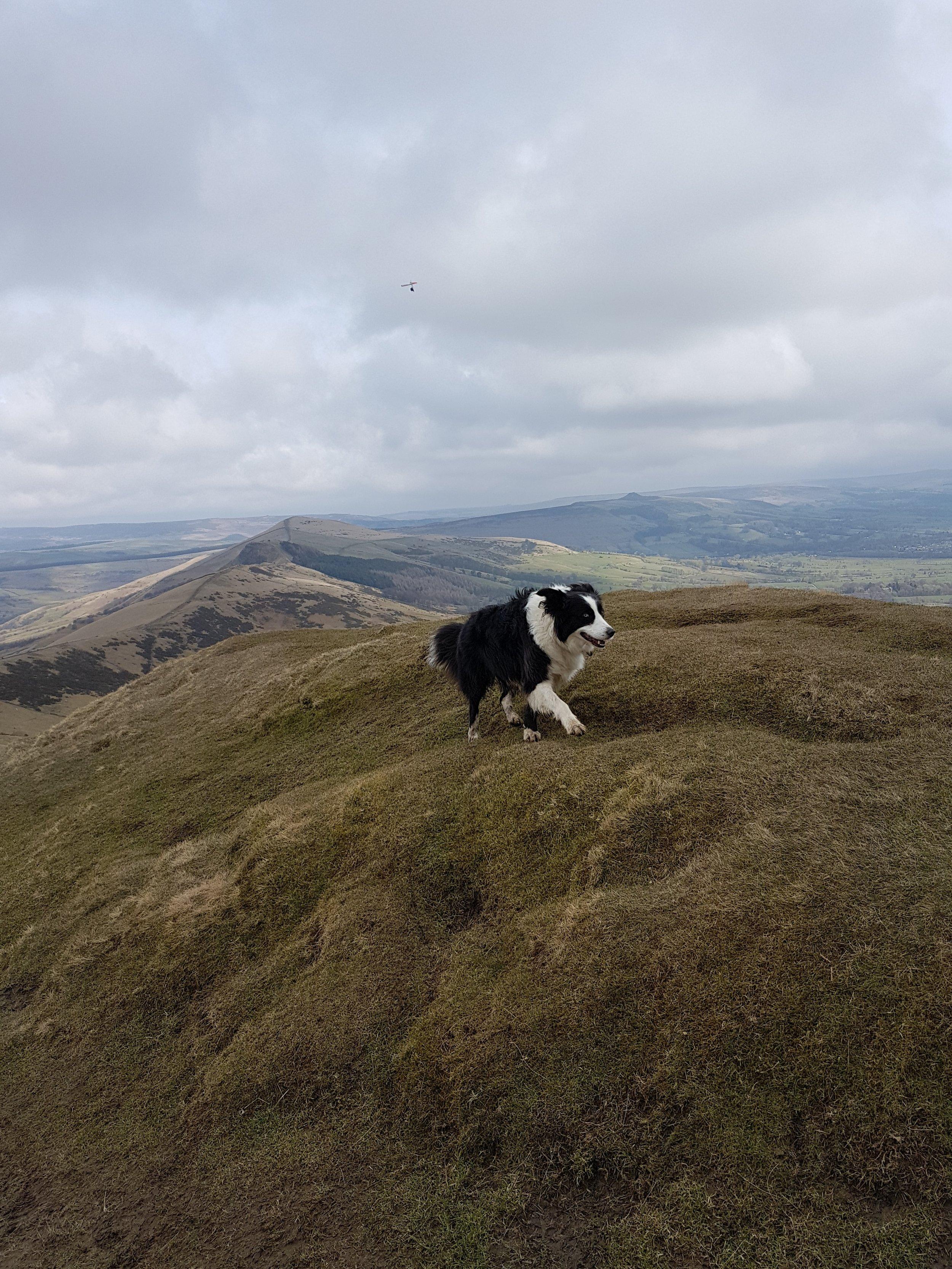 The ridge at the summit of Mam Tor