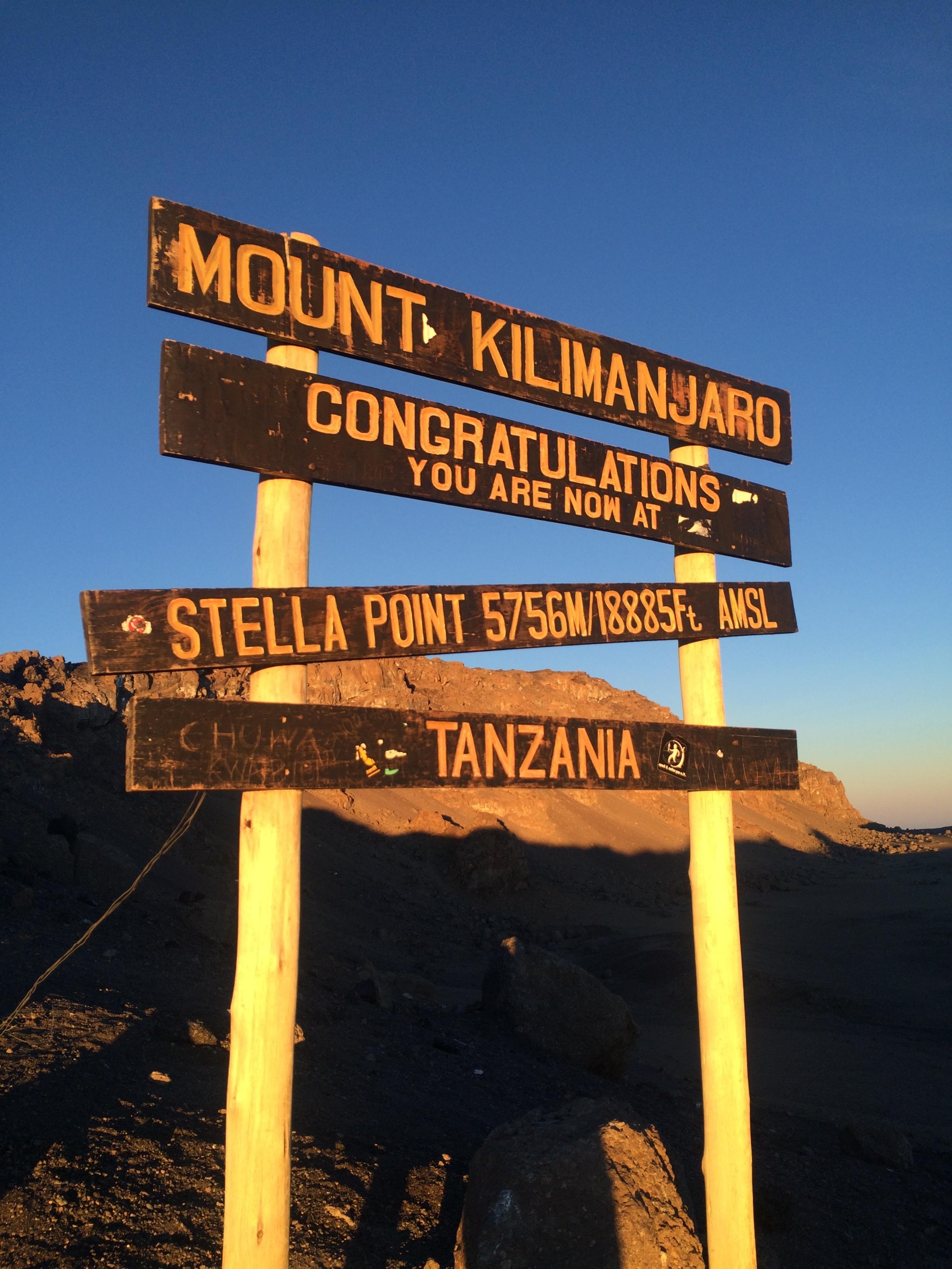 Stella Point, Mount Kilimanjaro, 5,756 metres