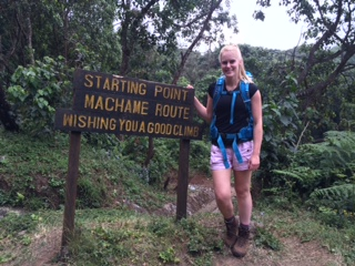 The start of the Machame route, Kilimanjaro
