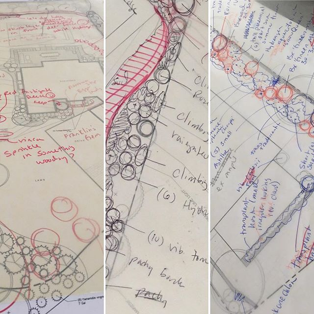 Thinking best with pen to paper #oldschool #tracingpaper  #landscapedesign