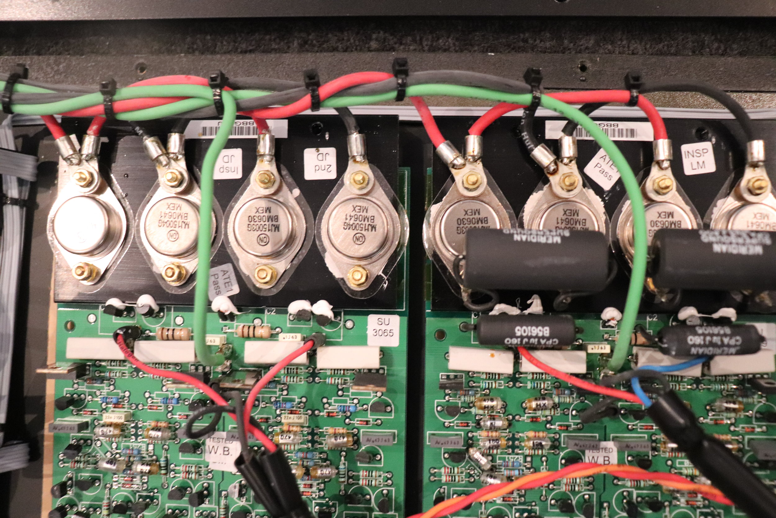 DSP5500HC: The Two Main Amplifier Boards (left bass)