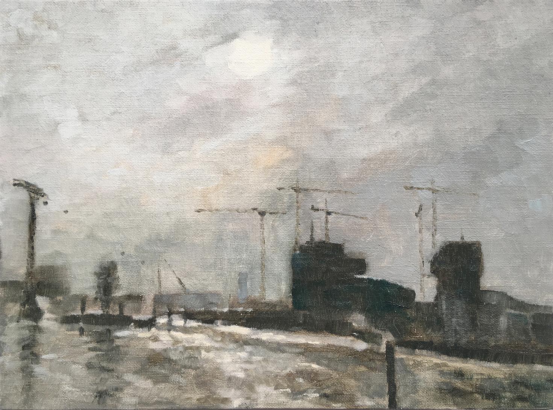 Fog on the Thames from Trinity Buoy Wharf