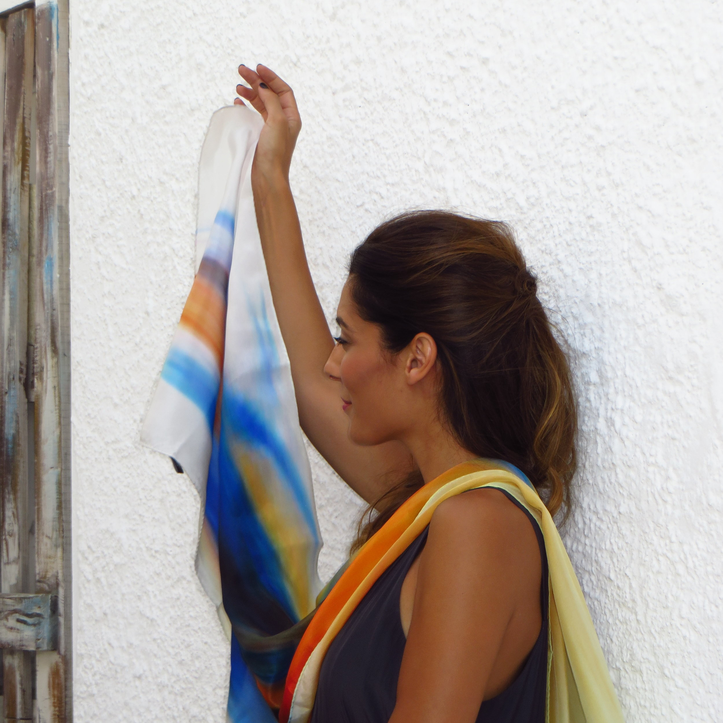From our photoshoot in amazing Naxos - wonderful artist  Melina Koan  with our  Jet .