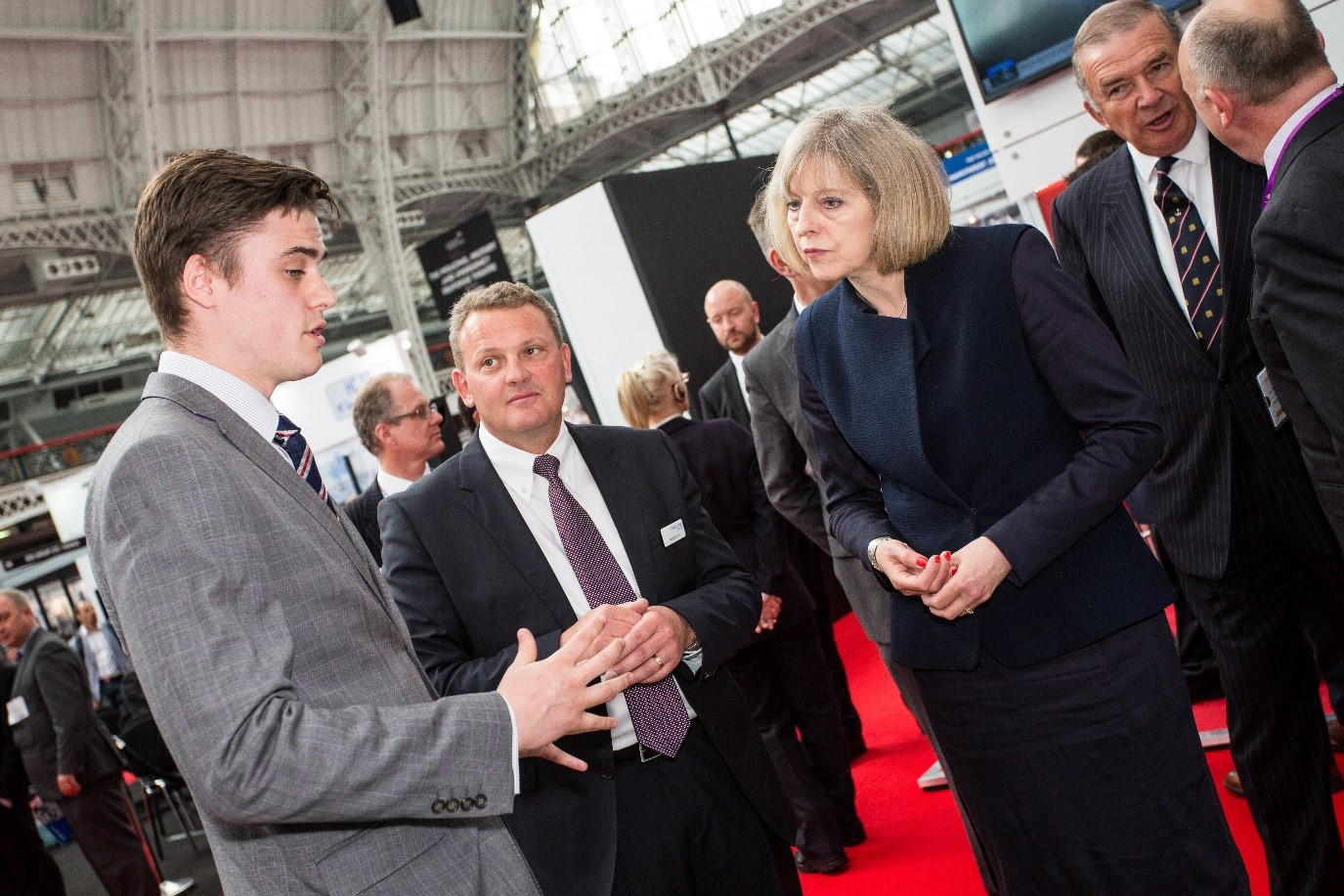 Head of Perception Cyber Security, Dan Driver, meets the new Prime Minister Theresa May at an event in 2014, while she was Home Secretary