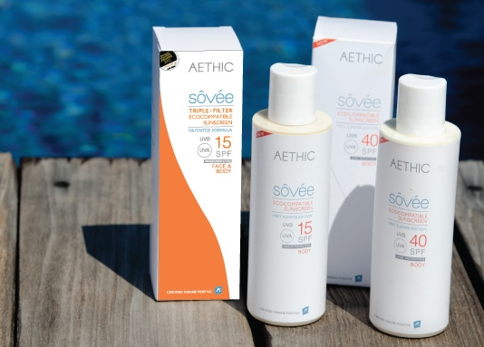 stay safe and lather up, but be sure to also protect the oceans while you're at it by choosing a coral friendly line of sunscreen, such as  aethic