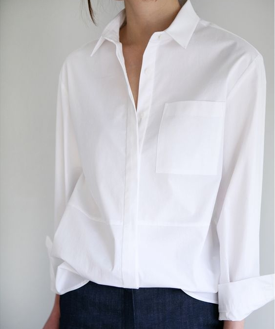 never be without a white shirt or two (100% organic cotton) to throw on over...everything!