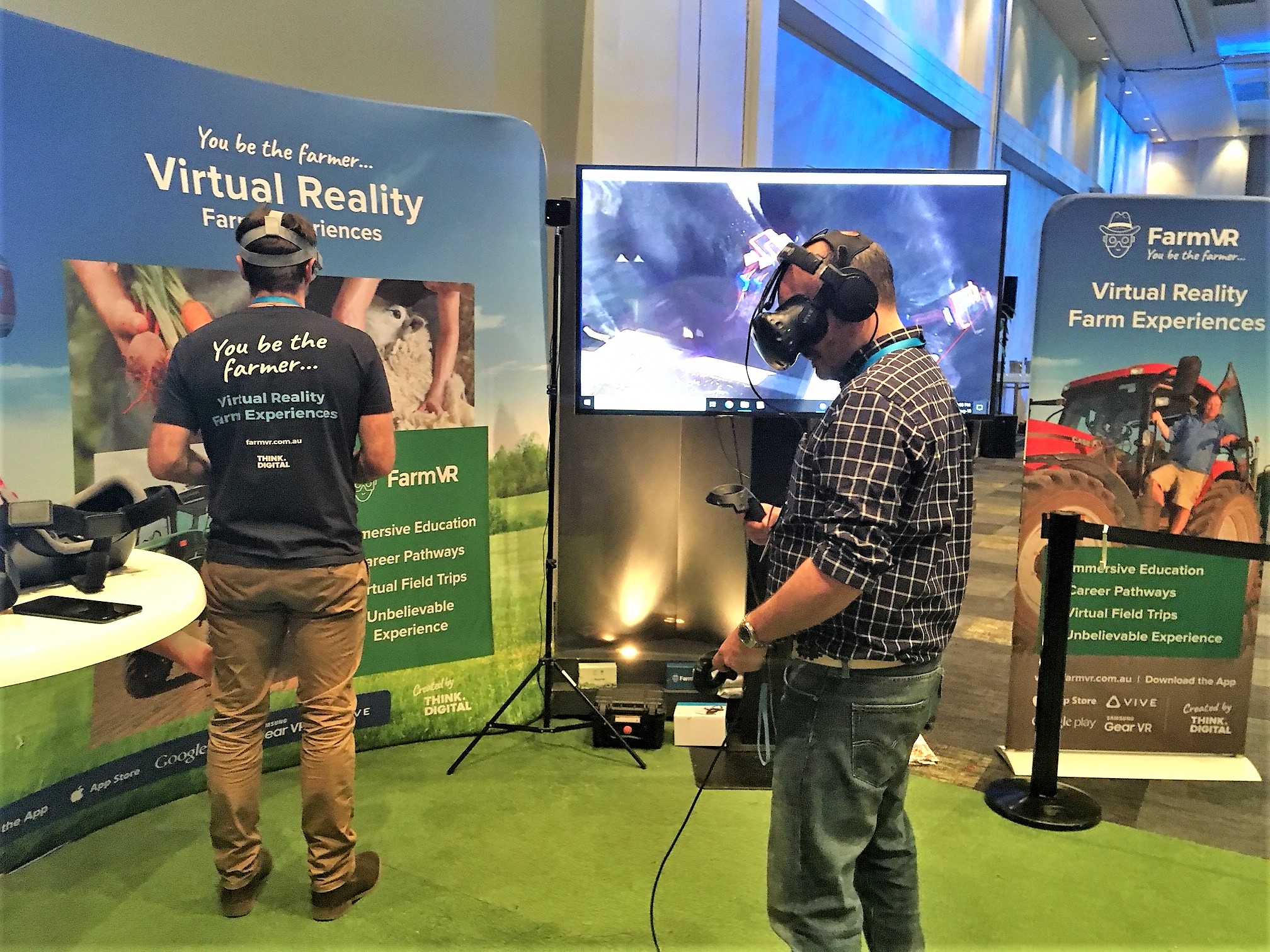 Virtual reality farm experiences were recently showcased at the CSIRO Agcatalyst event last month.