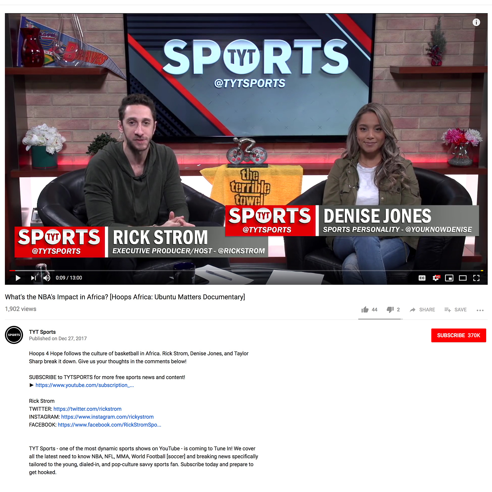 The Young Turks Sports   YouTube Interview - What's the NBA's Impact in Africa? [Hoops Africa: Ubuntu Matters Documentary]