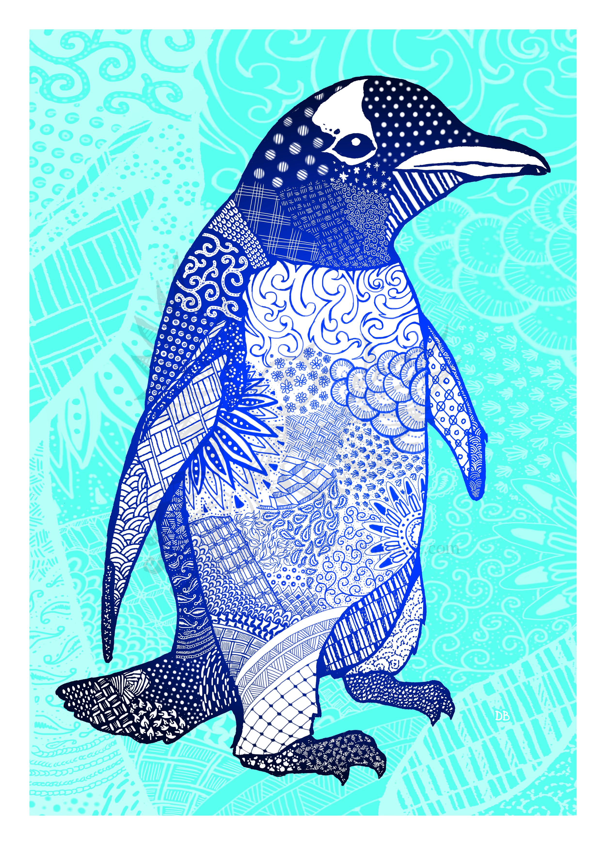 Zentangle Penguin