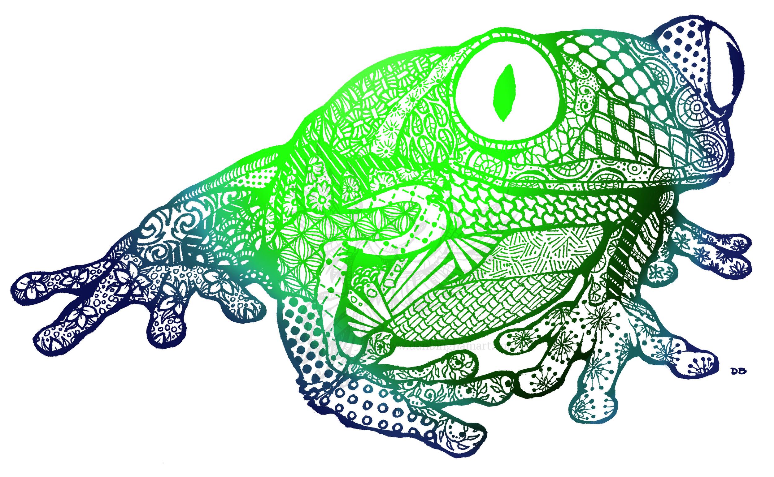 Zentangle Tree Frog