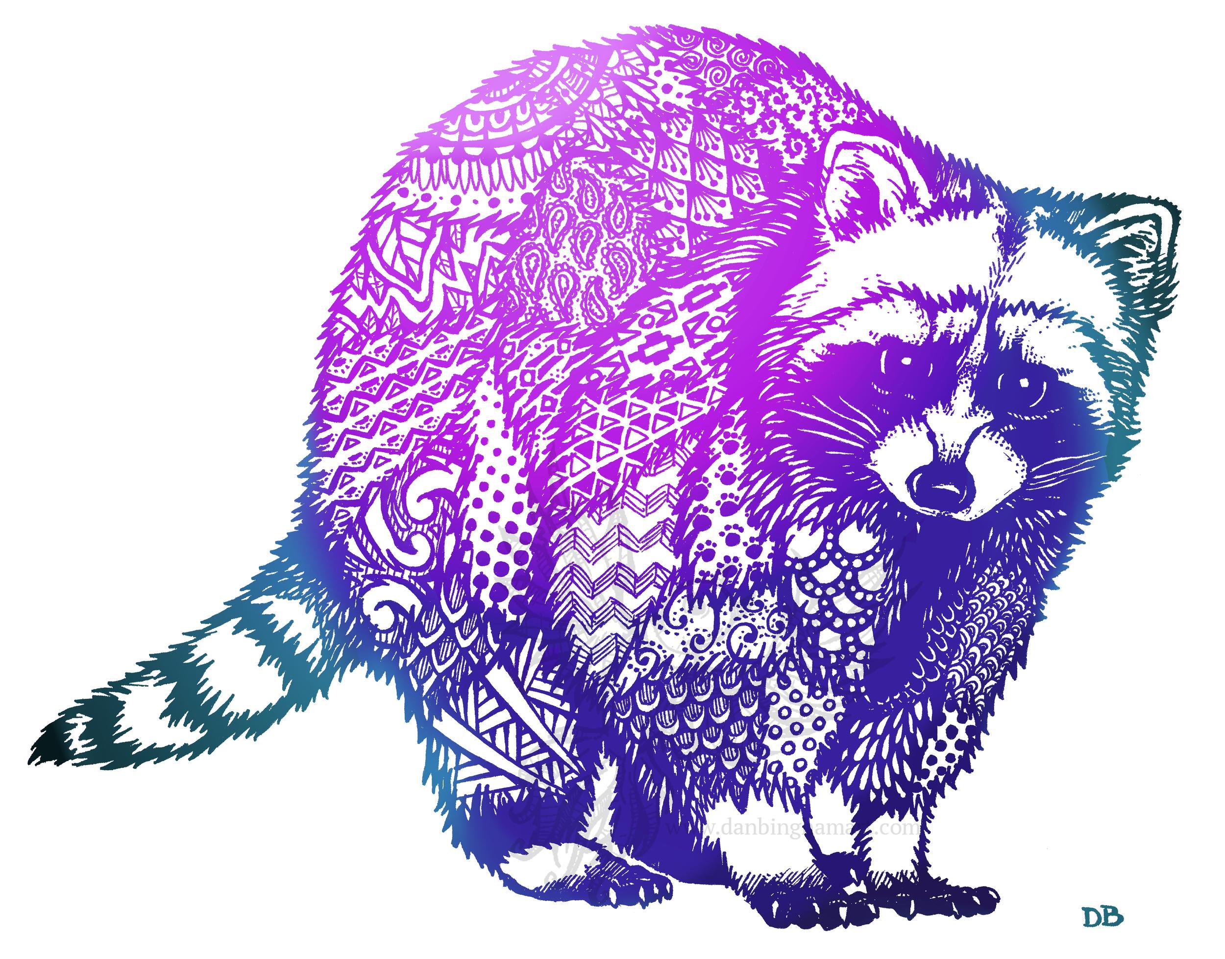 Zentangle Raccoon