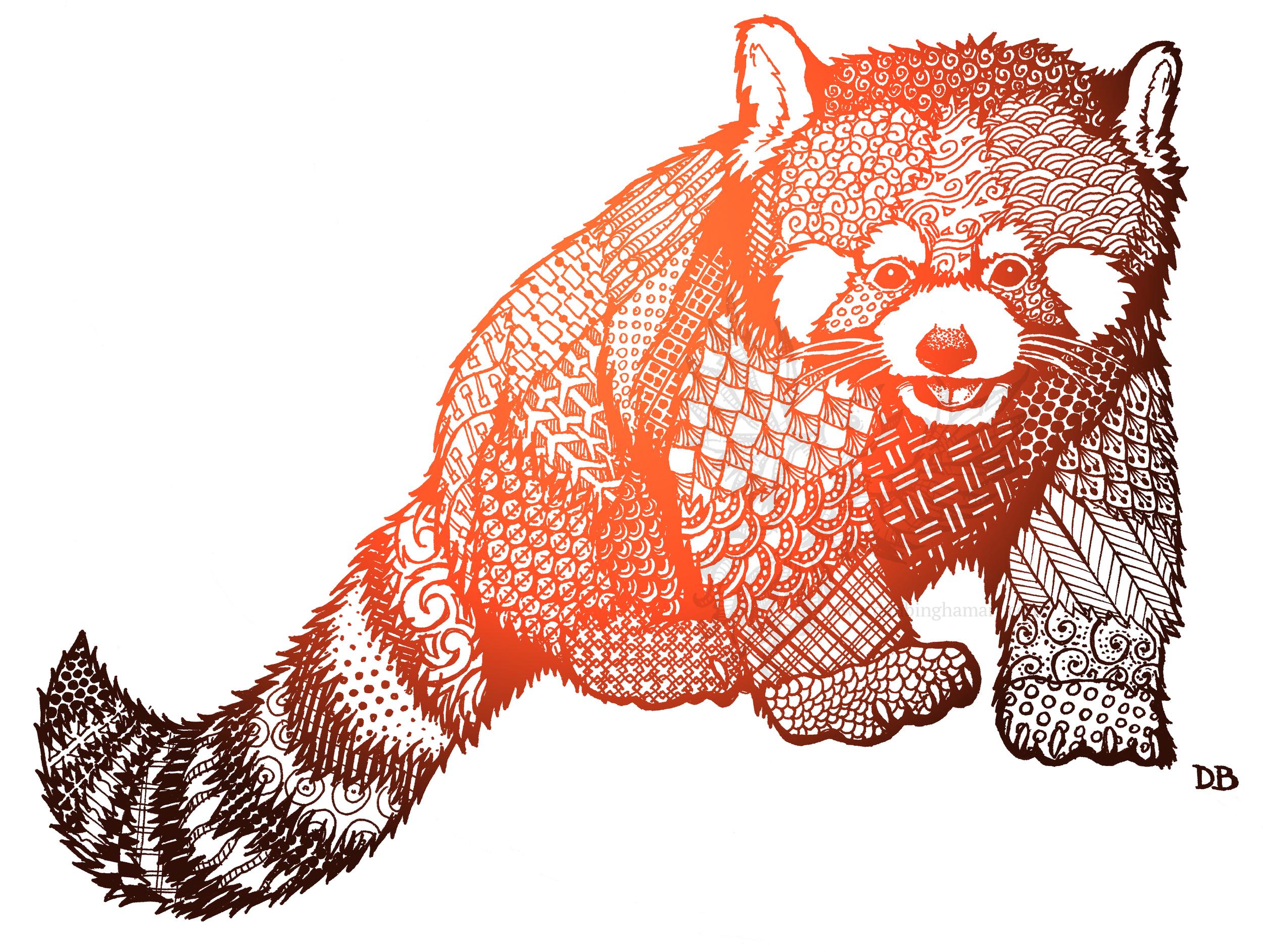 Zentangle Red Panda