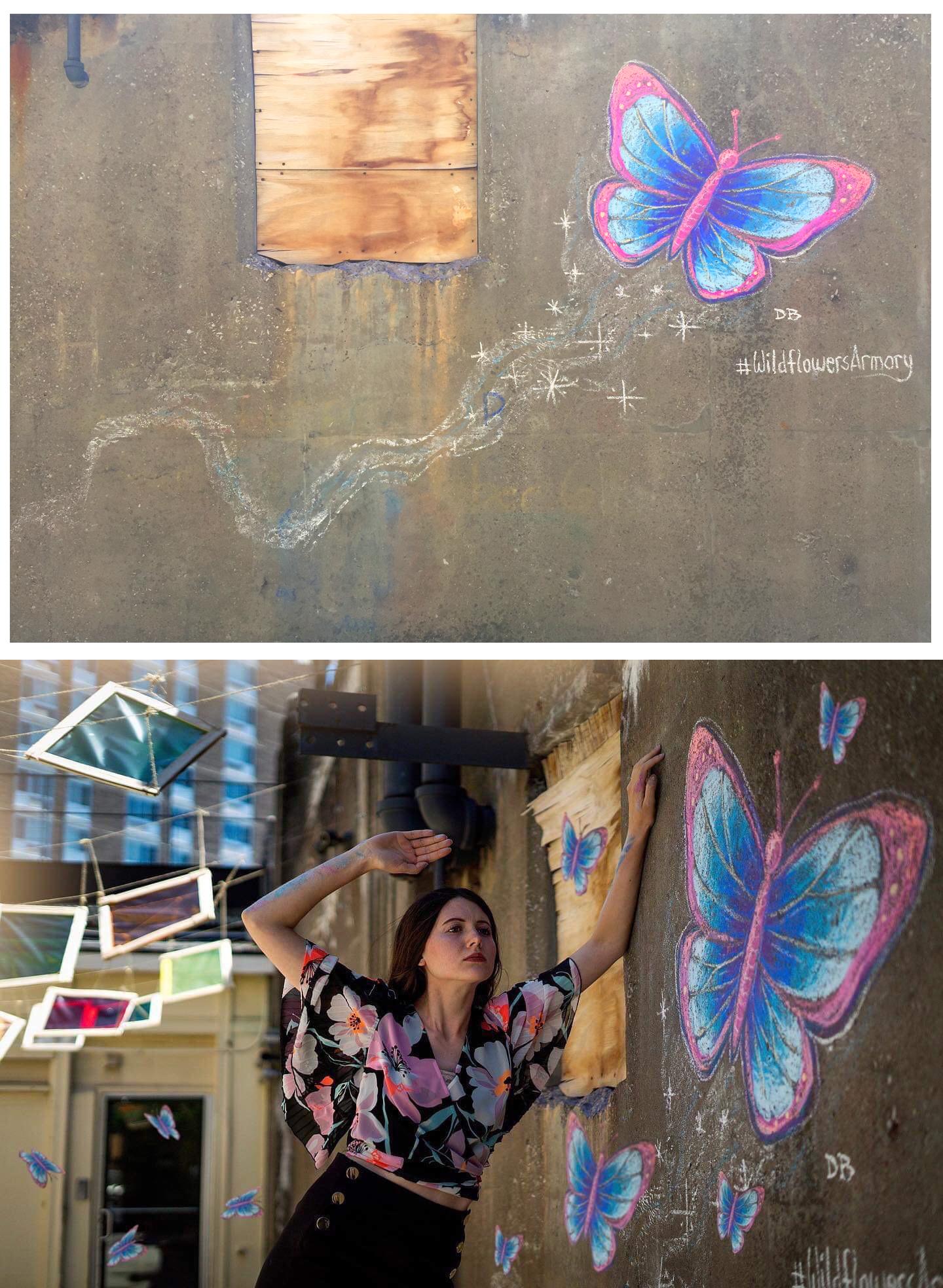 Butterfly Chalkbomb