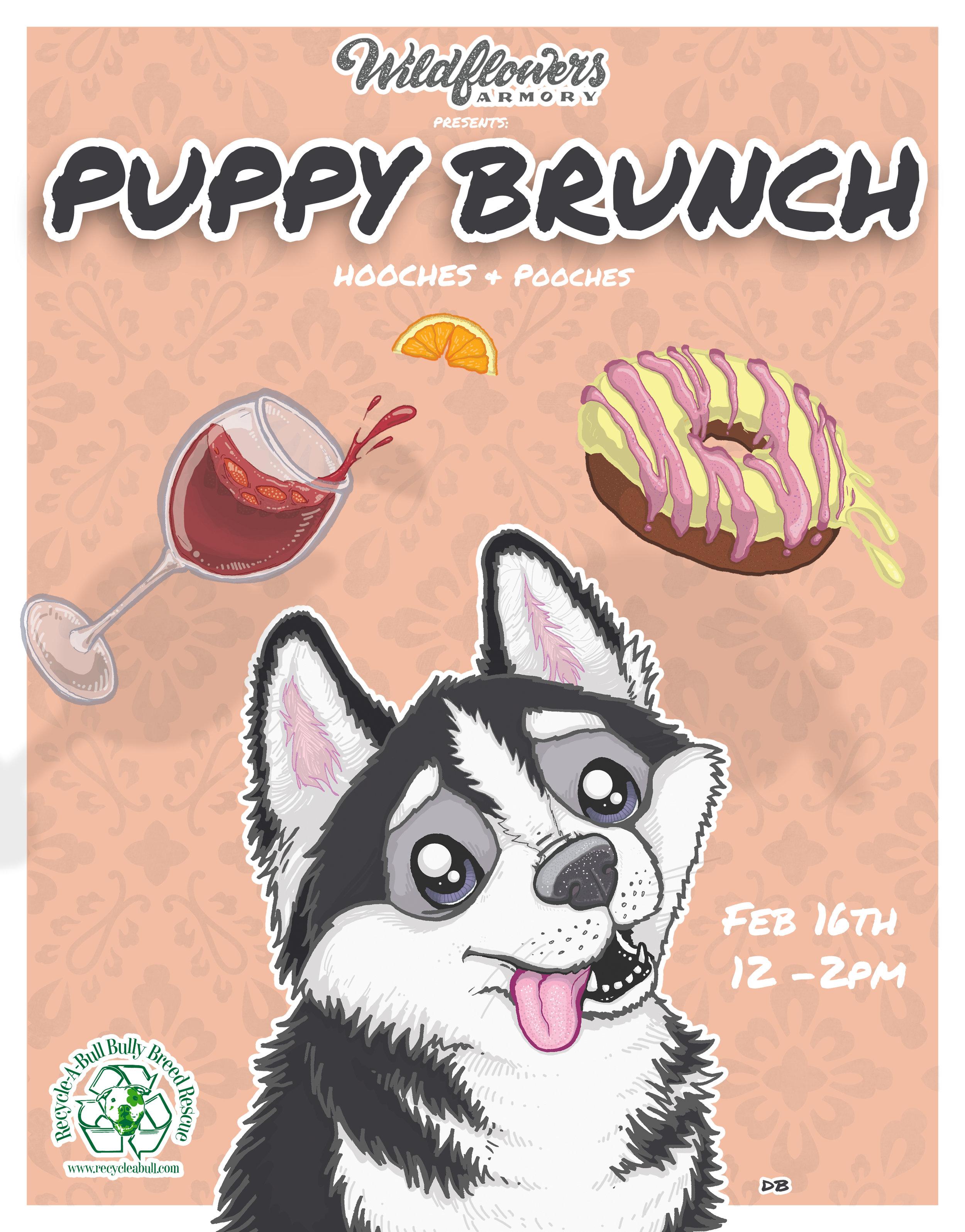 Puppy Brunch Flyer