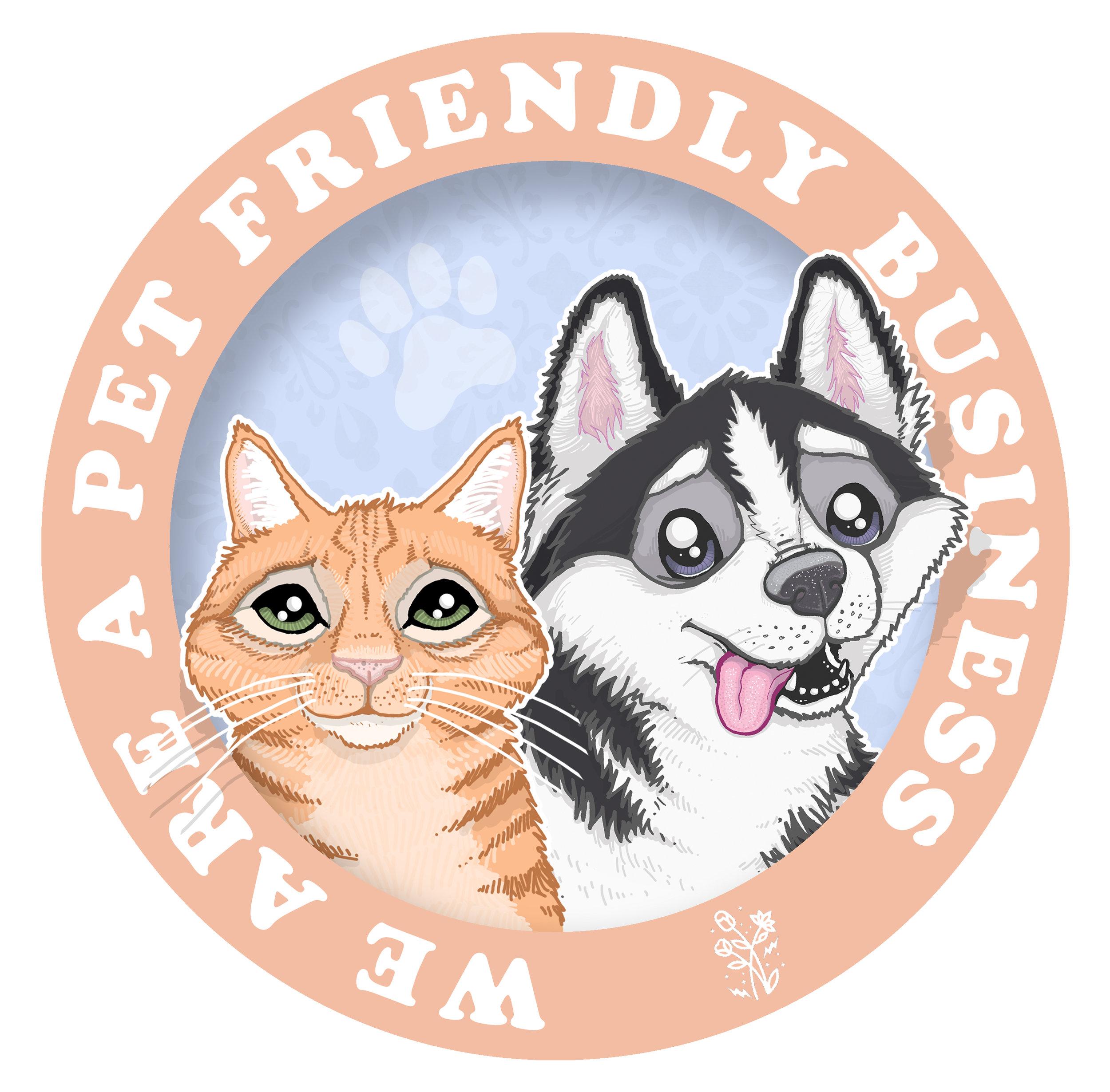 Pet Friendly Business Sticker