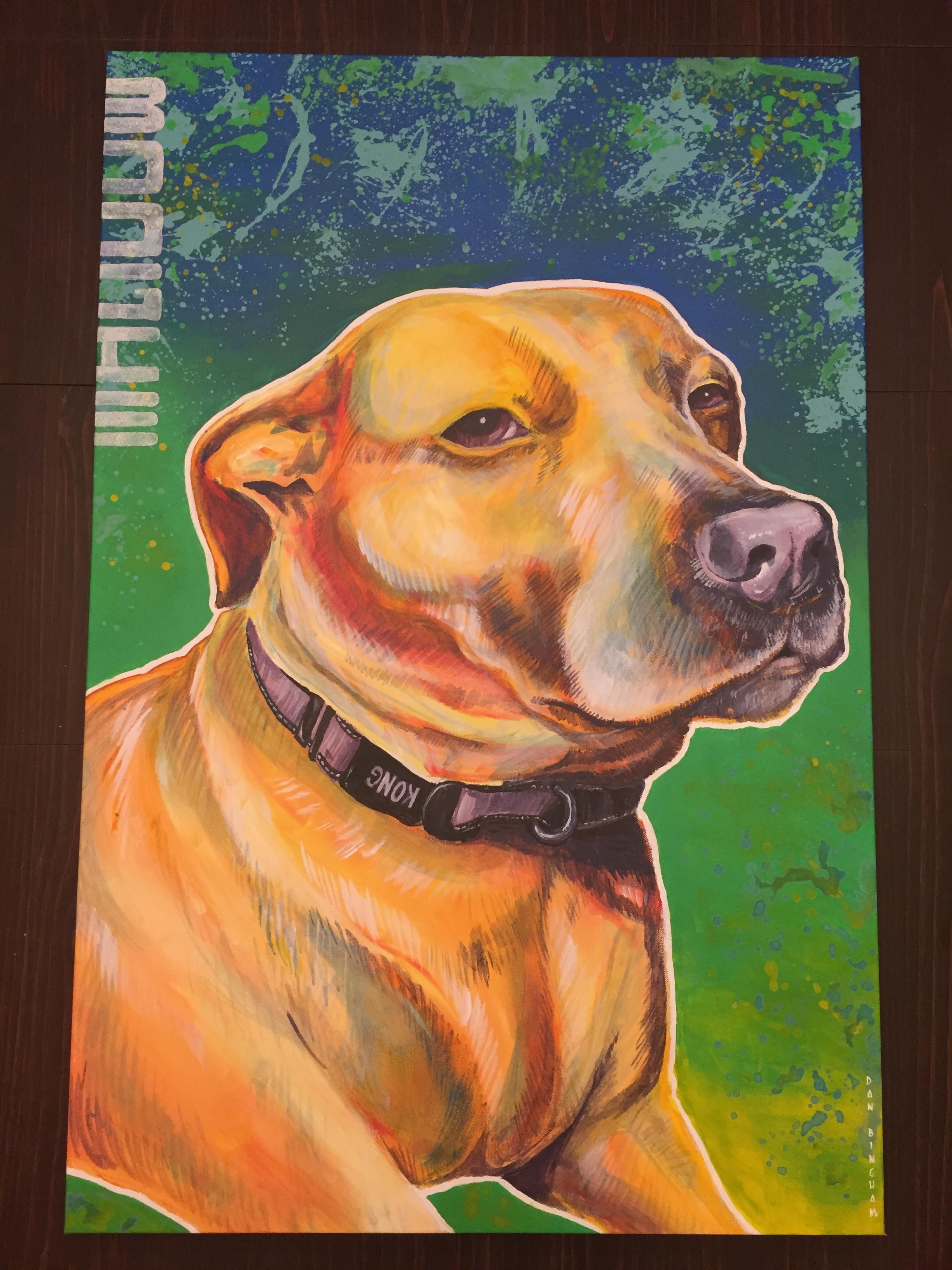 Boogie Pet Portrait Commission