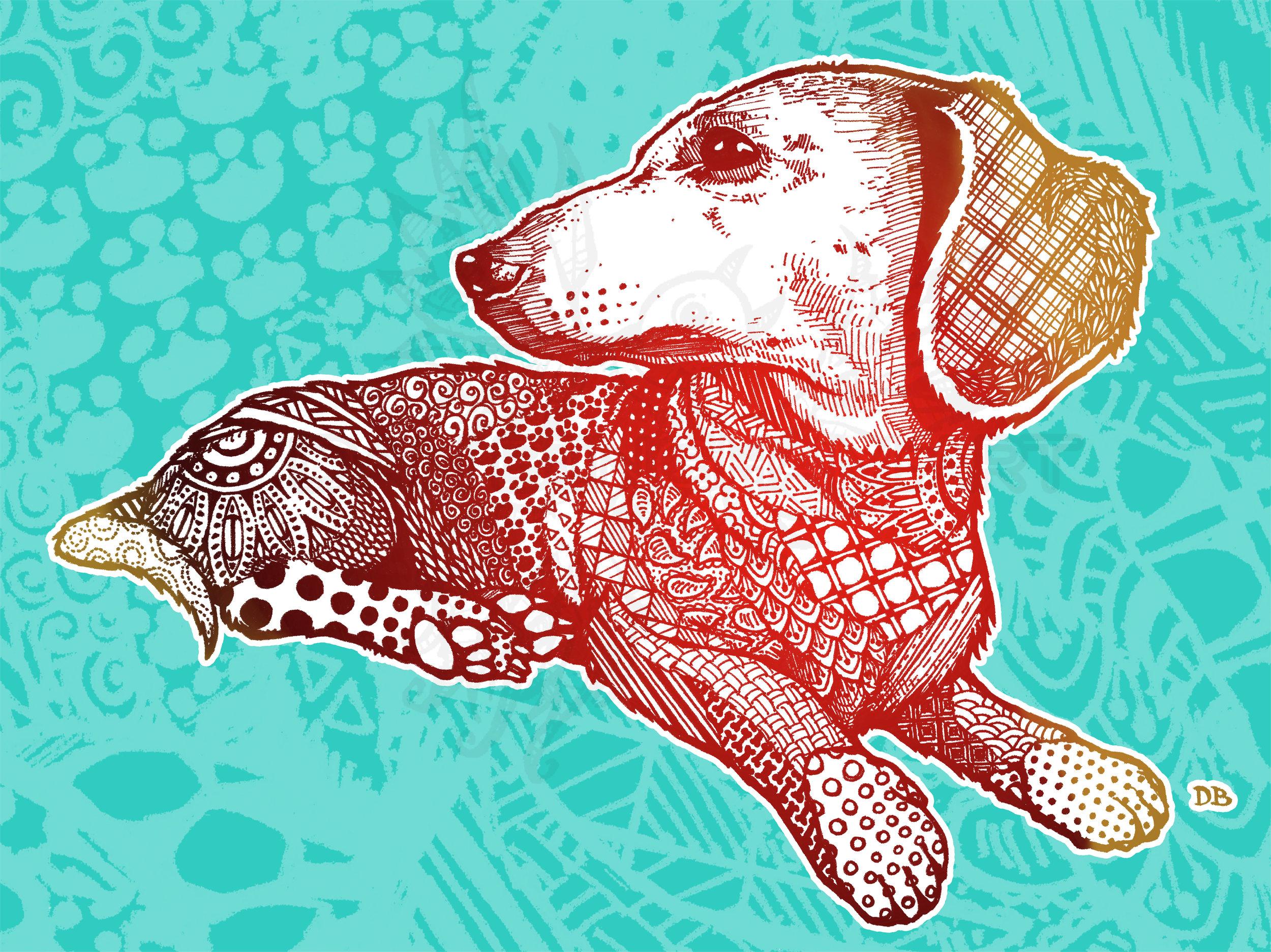 Hoover Zen Pet Portrait Commission