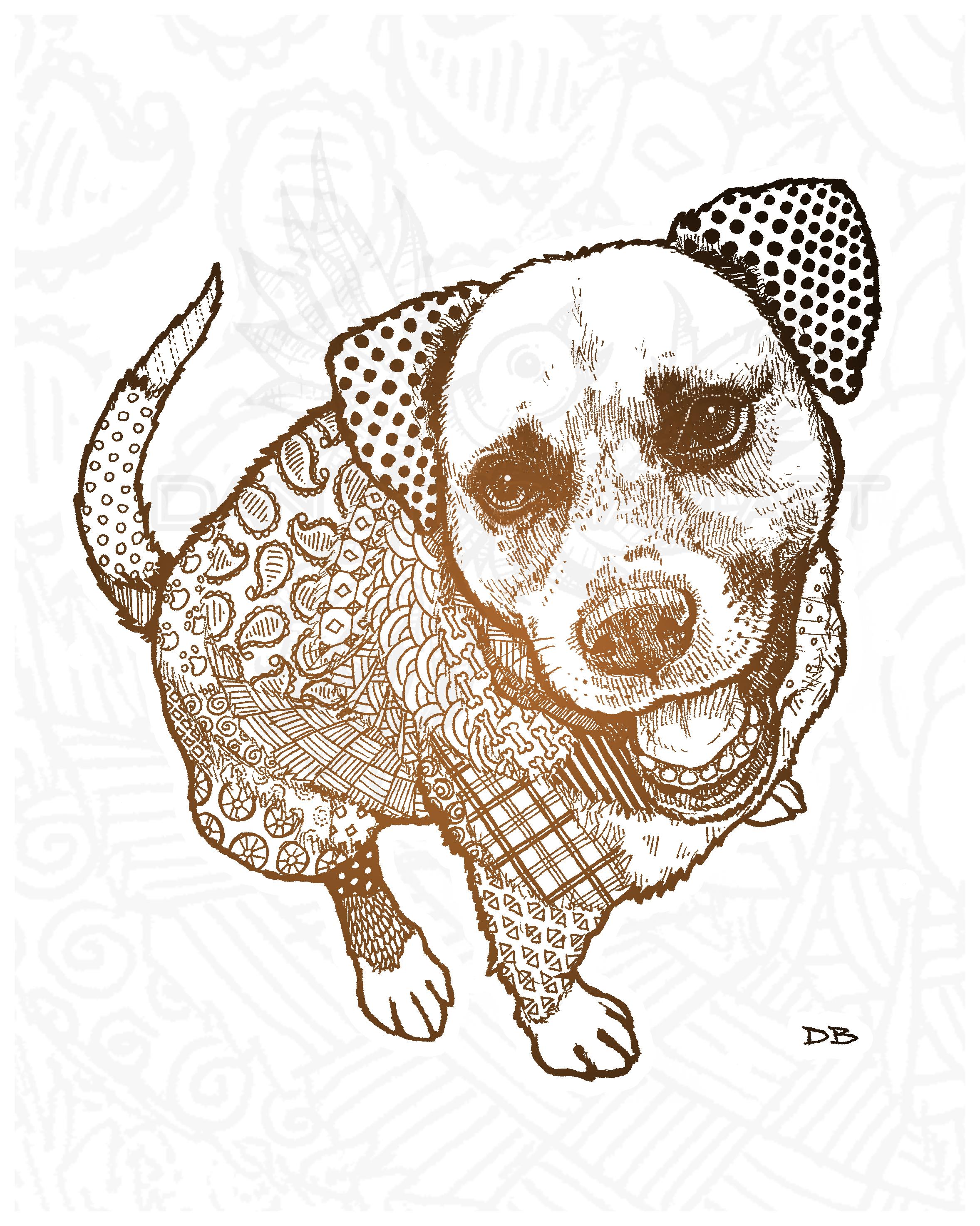 Peppa Zen Pet Portrait Commmission