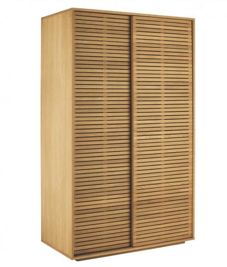 Habitat Max solid oak sliding door with shelves £995 matching products available.   https://www.habitat.co.uk/max-oak-sliding-wardrobe-164457