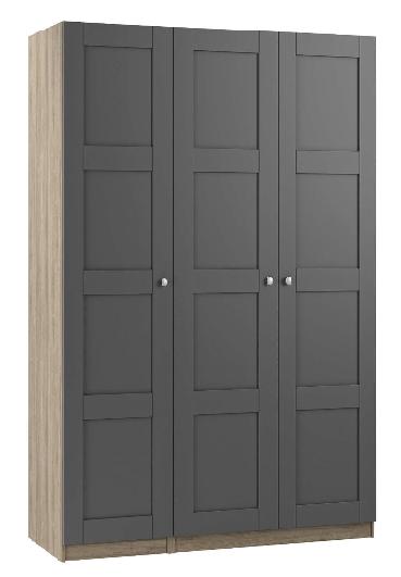 John Lewis £374.00   https://www.johnlewis.com/house-by-john-lewis-mix-it-chrome-knob-4-panel-triple-wardrobe-matt-graphite-grey-ash/p237192273