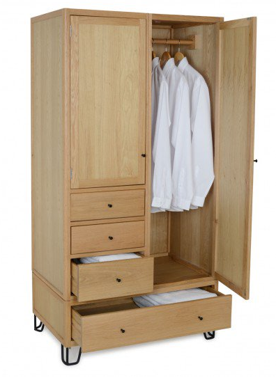 Heal's Brunel wardrobe £999 other products available in this range.   https://www.heals.com/brunel-wardrobe.html