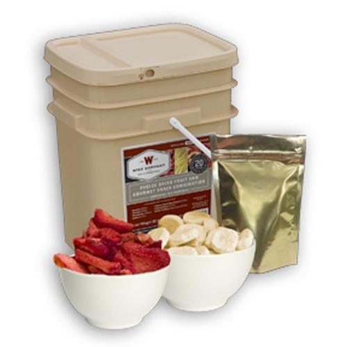 Wise 120 Serving Freeze Dried Fruit & Snack Grab & Go Bucket