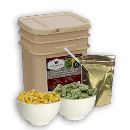 Wise 120 Serving Freeze Dried Vegetable & Sauce Grab & Go Bucket