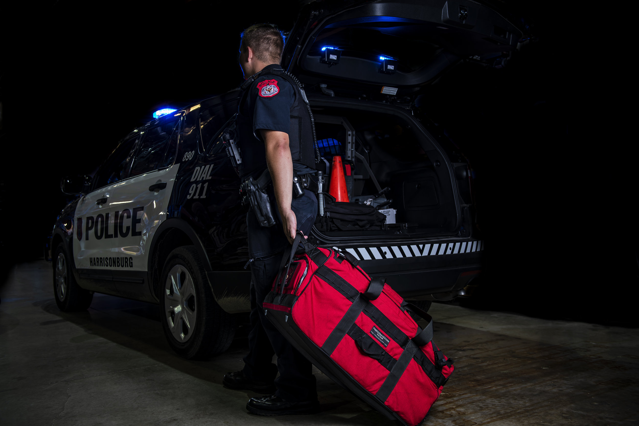 Photo featuring the  TACOPS™ Rolling Mass Casualty Kit . Photo property of TSSi.
