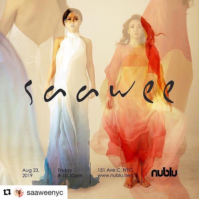 Meet SaaWee this August 23rd 8pm @nublunyc 151 🎶💕🎶💕