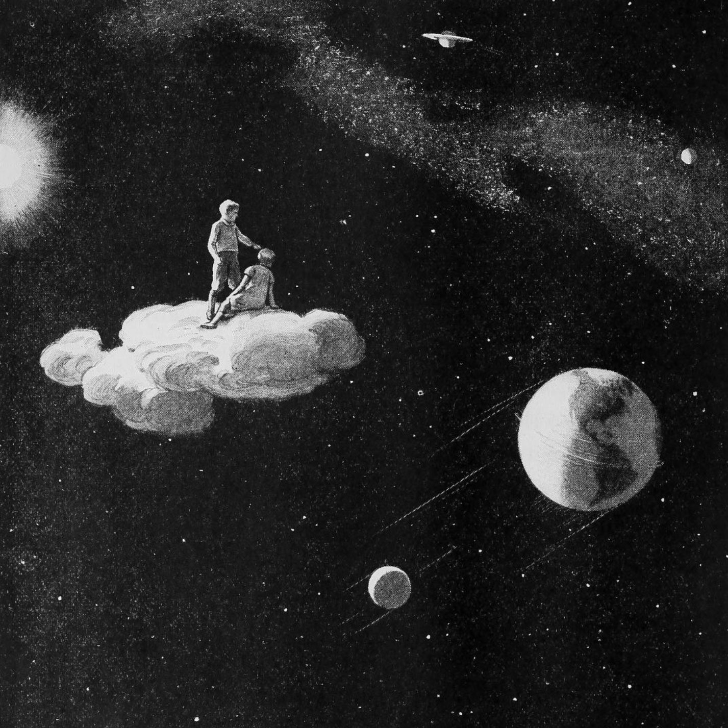 'Seeing the universe from a magic cloud' by Harold Sichel