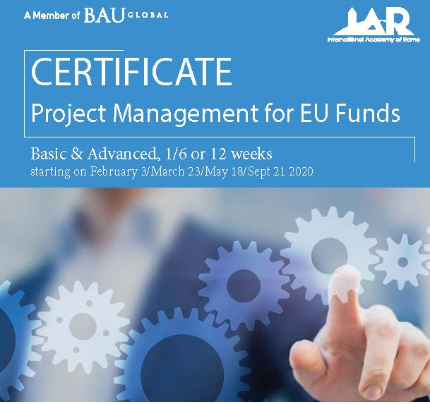 PROJECT MANAGEMENT FOR EU FUNDS   This Program developed in collaboration with the Italian Institute of Project Management (ISIPM) will allow you in 1 week full immersion or 6/12 weeks of MiniMBA: 1) to learn how to manage international projects and successfully apply for EU direct and indirect funds;  2) to take the examinations for the basic and the advanced level ISIPM Qualifications and be registered as a professional Project Manager.   read more