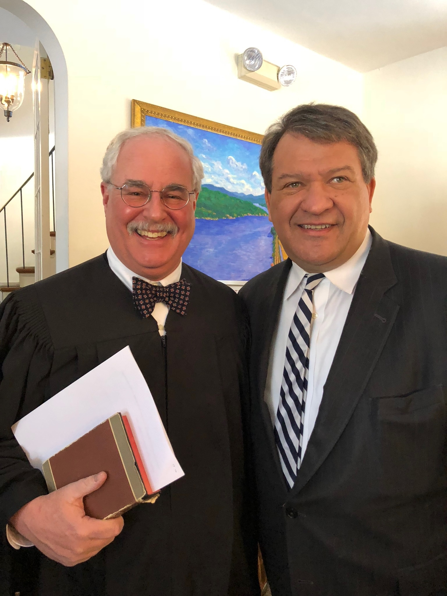 Town Justice Ira Clair with Westchester County Executive George Latimer.
