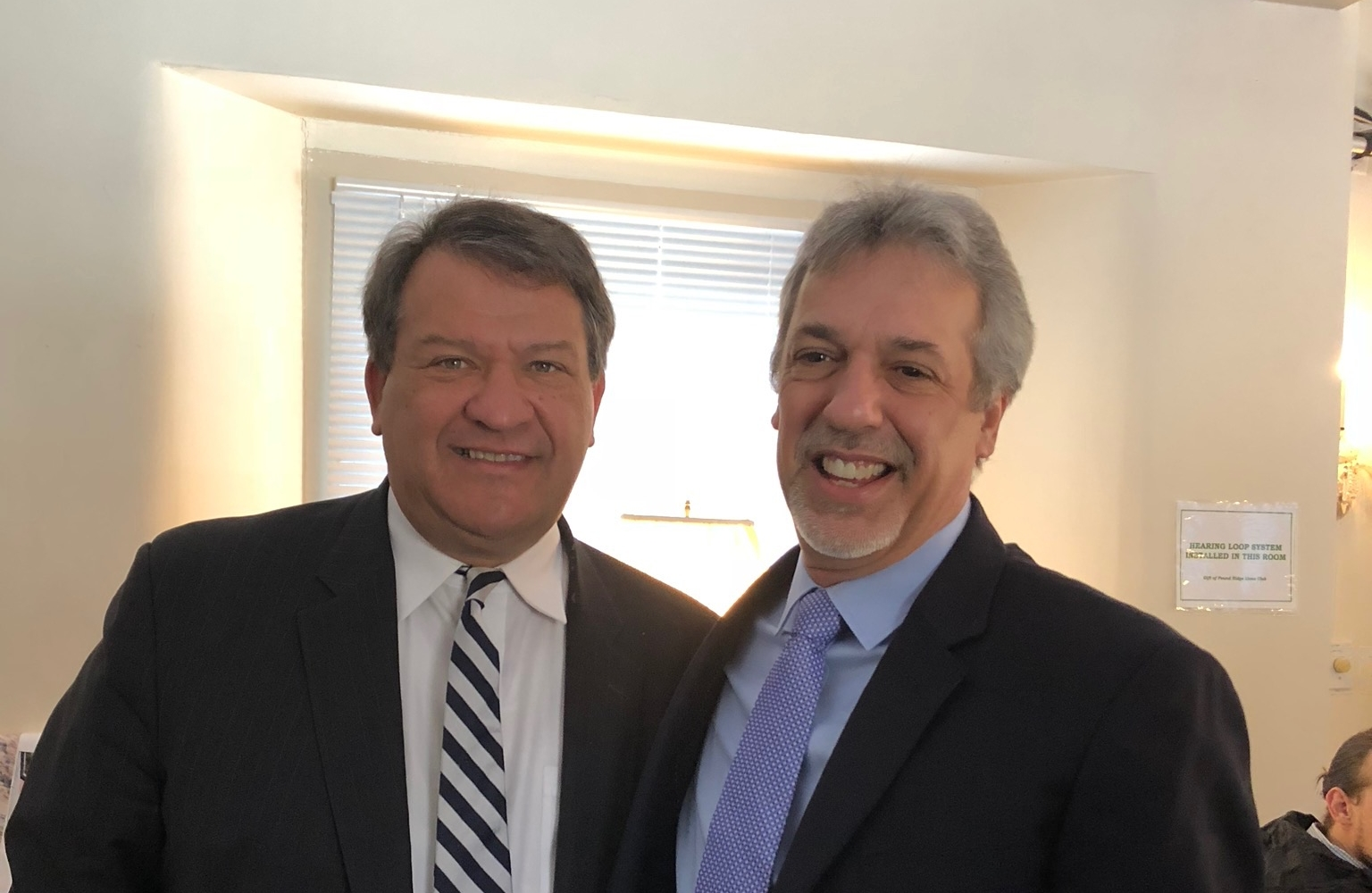 Westchester County Executive George Latimer with Pound Ridge Town Supervisor Kevin Hansan.