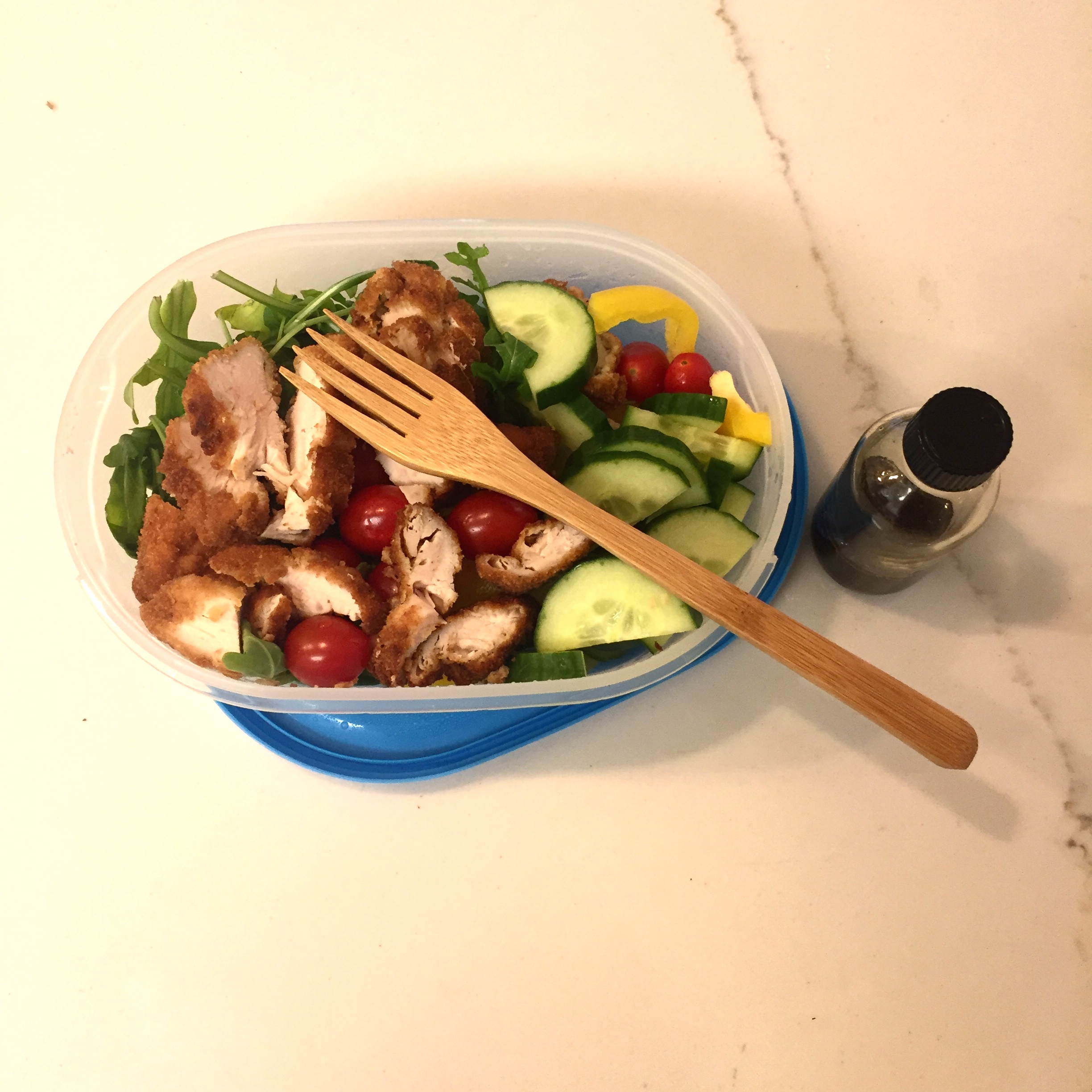 Lunch on the Go - I'd love to store my lunch in a glass container but it's unfortunately too heavy. These simple containers from Ikea do the trick and paired with my bamboo utensils (super lightweight), I've got the best home lunch in town. The mini glass bottle is ideal for salad dressing - I got it with an elixir inside once and repurposed.