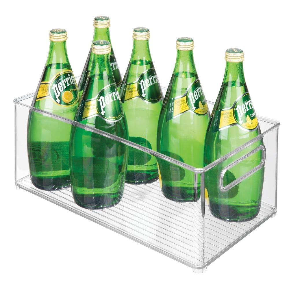 Deep Bins - Bins are always great for containing like-items and creating artificial drawers (you can just slide them right out!). So if you've got lots of loose bottles, products, or bottles of Perrier under your sink, contain them for easy access!