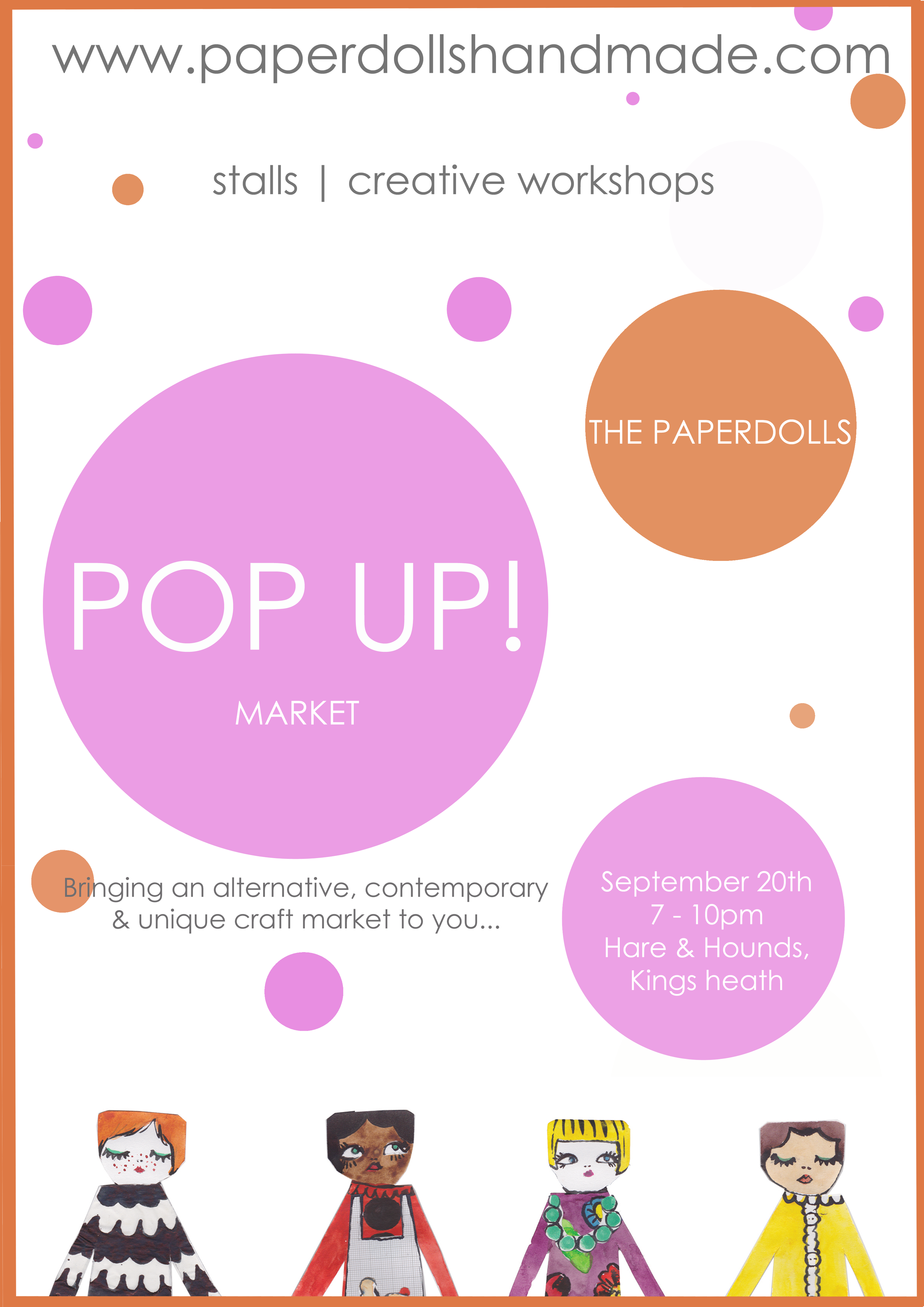 The Paperdolls POP UP market - September 20th