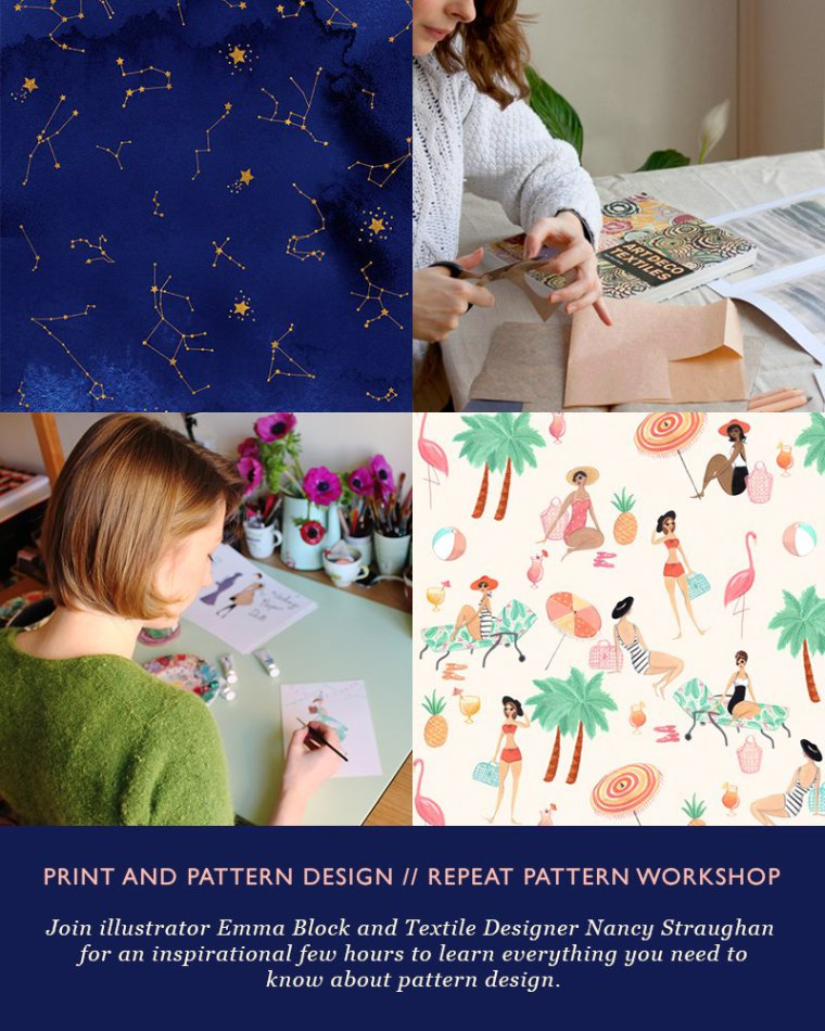 Emma Block Illustration and Repeat Pattern  Workshop at West Elm