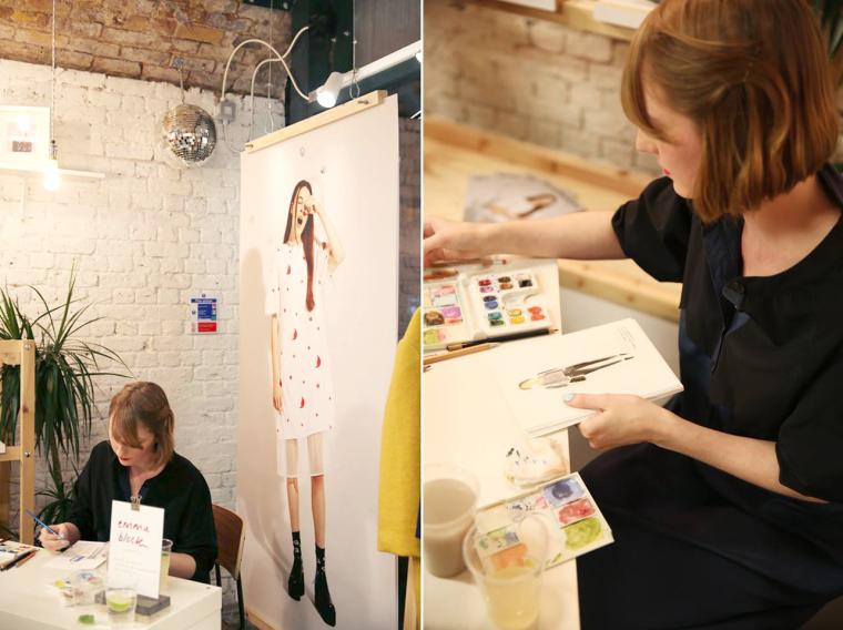 Emma Block Live Fashion Illustration at Whitepepper