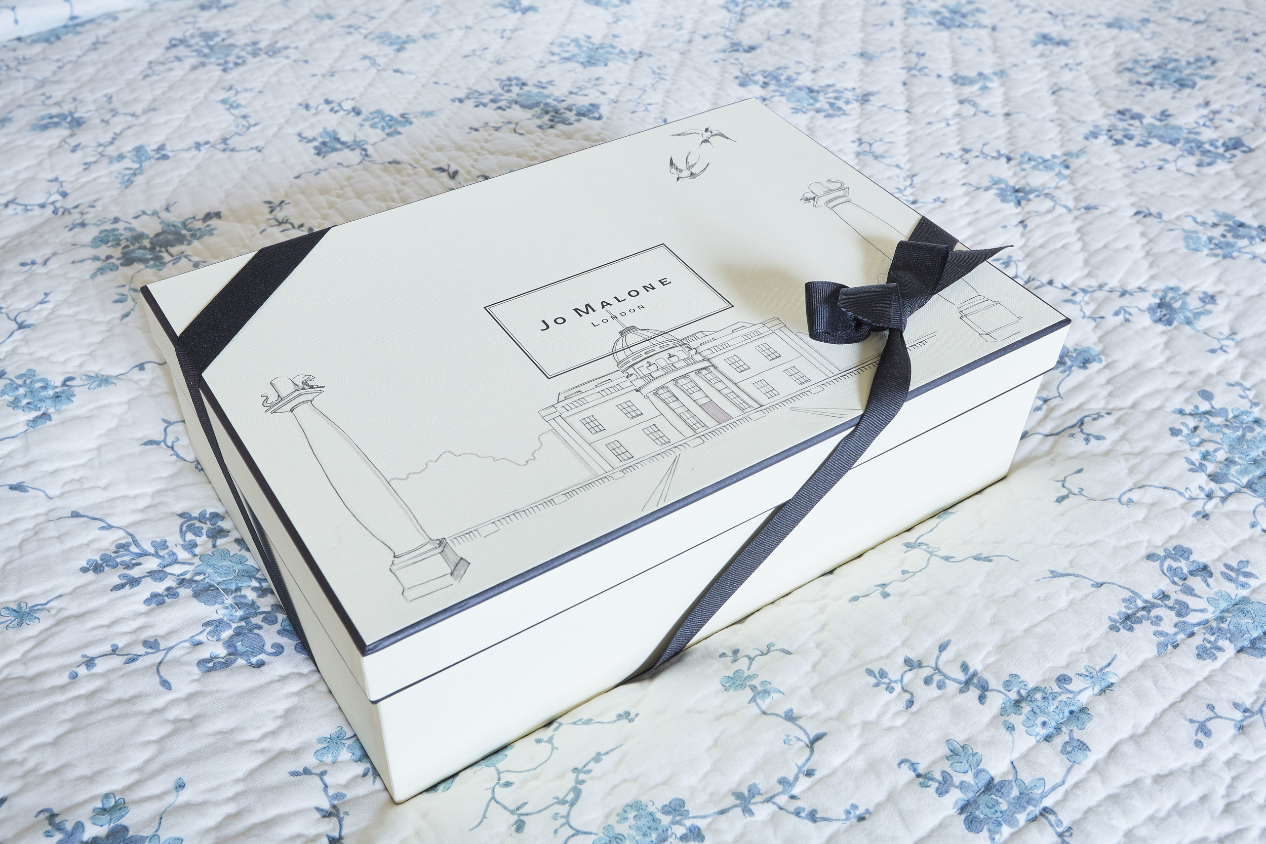 Bespoke, illustrated Jo Malone boxes by Willa Gebbie