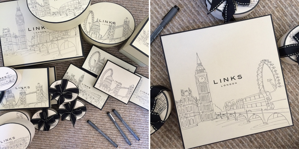Links of London Live Illustration Boxes