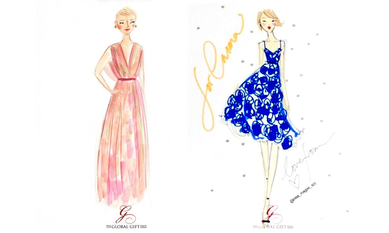 Willa was drawn by Emma Block, and Emma was drawn by Miss Magpie Fashion Spy.
