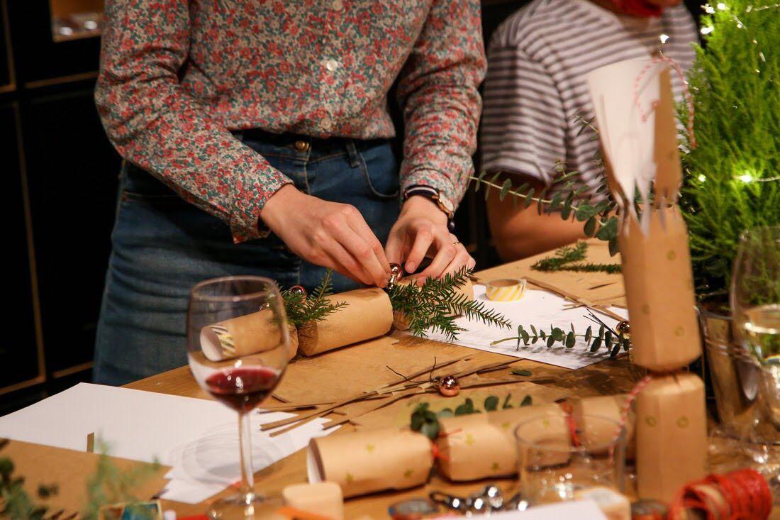 Emma Block Christmas cracker workshop