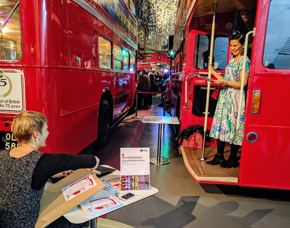 Willa Gebbie's live illustration with London Transport Museum