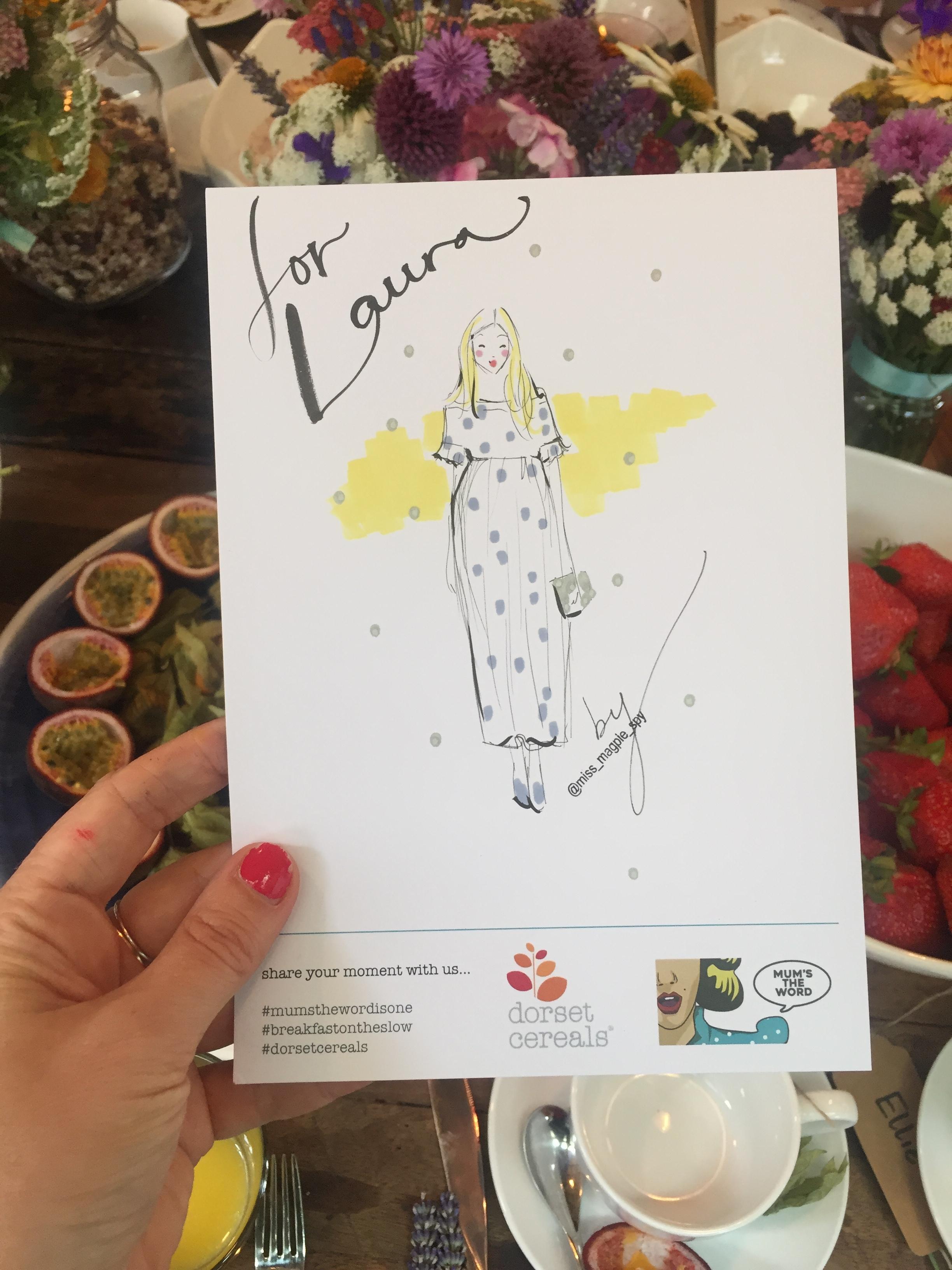 Illustration of Laura ( @themodernnursery )