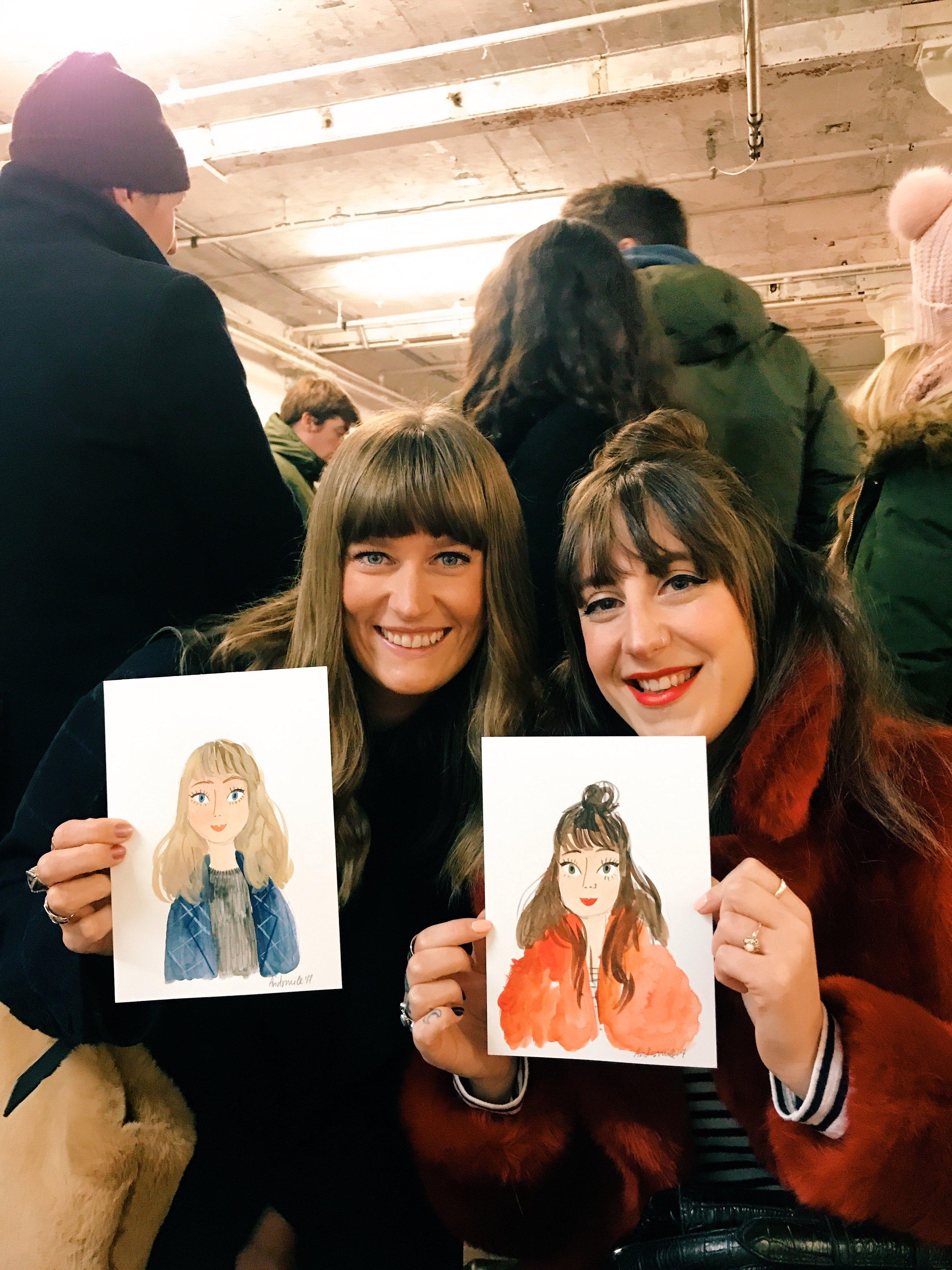 Viktorija Semjonova Live Illustration - Live Portraits at Crafty Fox
