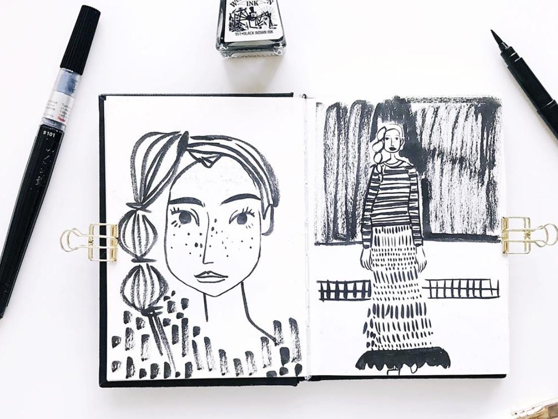 Viktorija Semjonova's b&w portraits