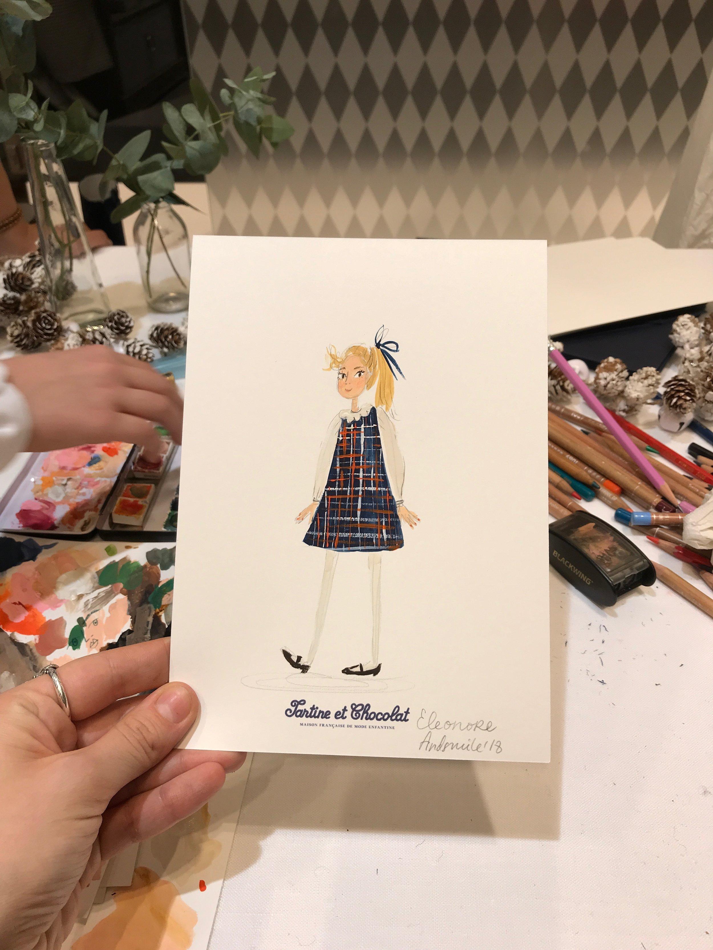 Viktorija Semjonova's childrens' portraits for Tartine et Chocolat